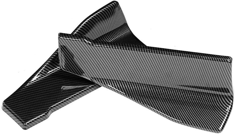 fibre de carbone de 35cm pour les tabliers Winglet de s/éparateur de l/èvre de pare-chocs de l/èvre de pare-chocs de l/èvre de pare-chocs arri/ère//automobile Aramox Jupes lat/érales en carbone