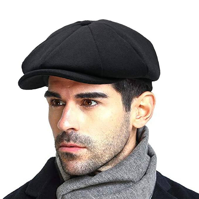 Men's Newsboy Gatsby Hat Vintage Beret Flat Ivy Cabbie Driving Hunting Cap for Boyfriend Gift