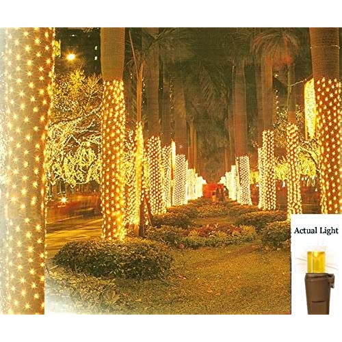 vickerman 2 x 8 amber led net style tree trunk wrap christmas lights brown wire