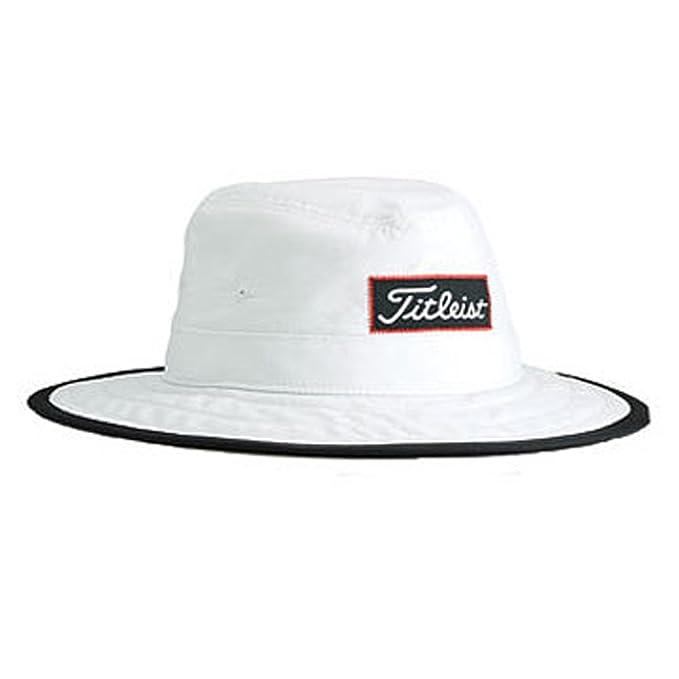 Amazon.com  New 2014 Titleist Aussie Bucket Hat Cap COLOR  White SIZE   Large X-Large  Clothing 1920e93f41