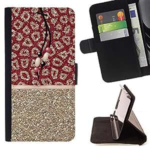 "For Sony Xperia M4 Aqua,S-type Gold Glitter Piel Patrón india"" - Dibujo PU billetera de cuero Funda Case Caso de la piel de la bolsa protectora"