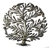 Tree of life Wall Art, Flower and Birds, Handmade in Haiti, NO MACHINED USED, Fair Trade 23″ For Sale