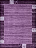 Unique Loom Del Mar Collection Contemporary Transitional Purple Area Rug (9' 0 x 12' 0)