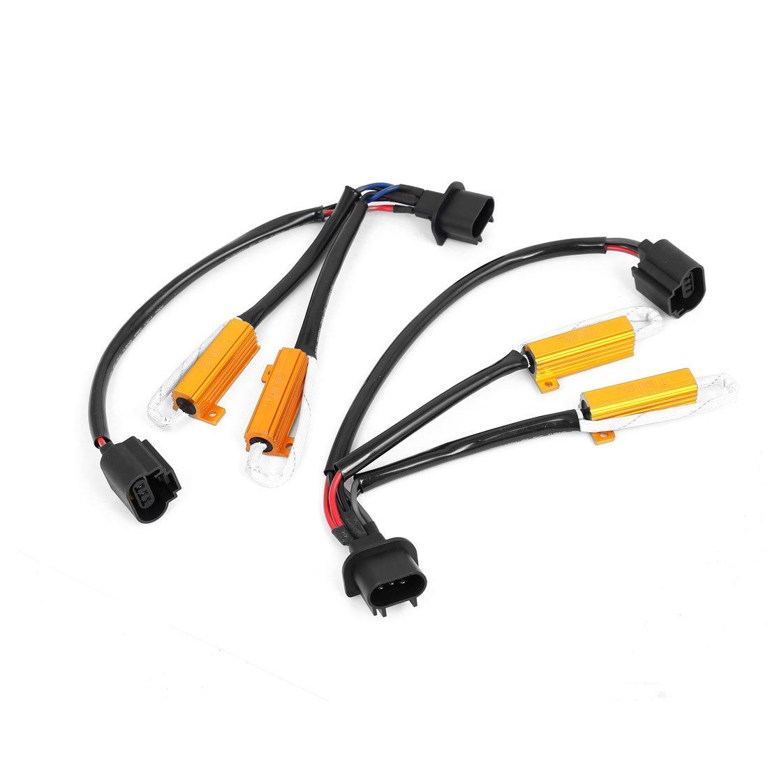 2x H13 9008 Hid Conversion Kit No Error Load Resistor Wiring Harness Resistors Pigtails Sockets Amazon Canada