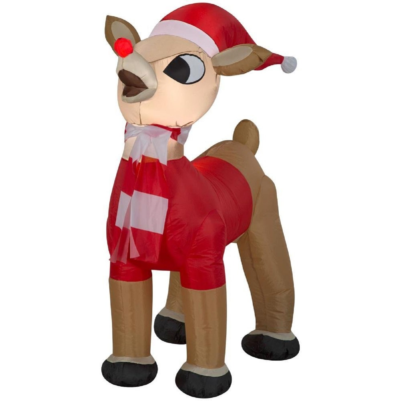 Inflatable 42 in. Rudolph in Santa Outfit