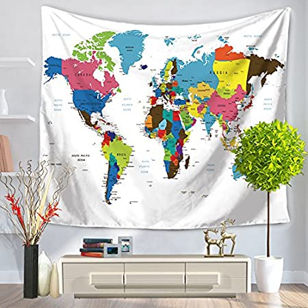 Magic candle world map vintage tapestry wall hanging educational magic candle world map vintage tapestry wall hanging educational world map wall hanging multipurpose cloth as gumiabroncs Images