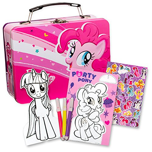 My Little Pony Art Coloring Set -- My Little Pony Tin Lunch Box with Markers, Stickers, Coloring Activities and More (MLP School (Little Tin Box)