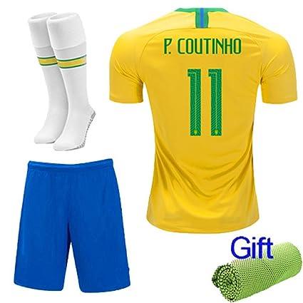 b224149cb New Fi 2018 Football Soccer Kits Short Sleeve for Kids Boys Youth 3-12 Years