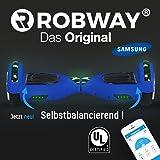 Robway Original Hoverboard W1 Matt Edition - Premium SAMSUNG Akku - UL2272 - CE - Self Balance - Bluetooth - App Steuerung - 2 x 350 Watt Motoren - LED - Elektro Scooter Self Balance Board
