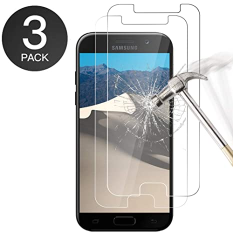 Zloer  Lot de 3  Samsung Galaxy A5 2017 Protection Ecran Verre Trempé  3D 60f865125f4a