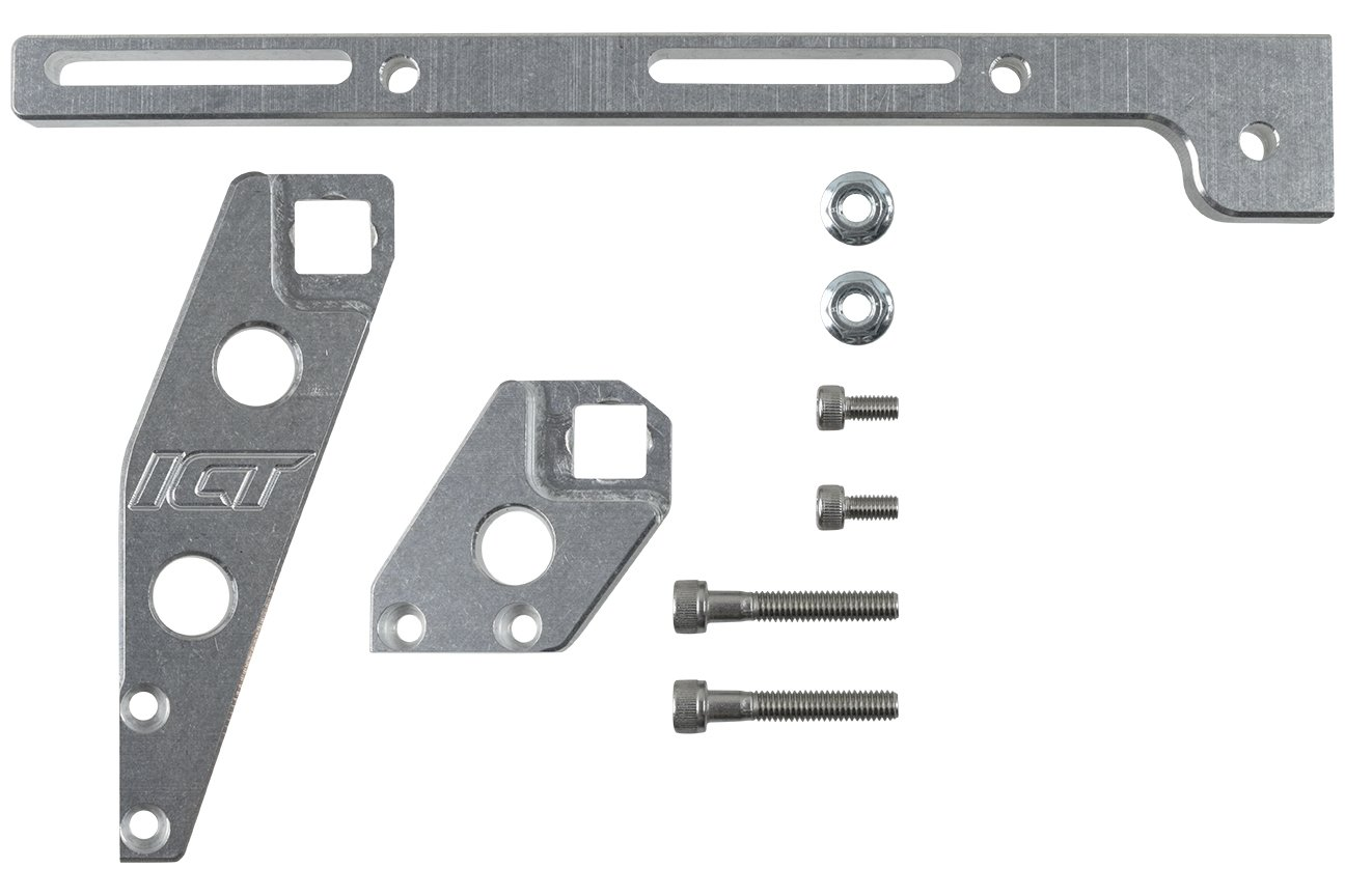 ICT Billet 551446 LS Throttle Cable Bracket LS1 Sheet Metal Intake (Cathedral Po