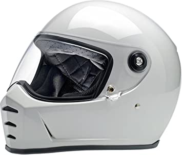 Biltwell Lane divisor sólido Full-Face casco de moto, color blanco brillante