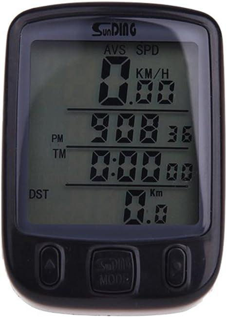 SUNDING impermeable Cuentakilometros Velocimetro Inalambrico para ...