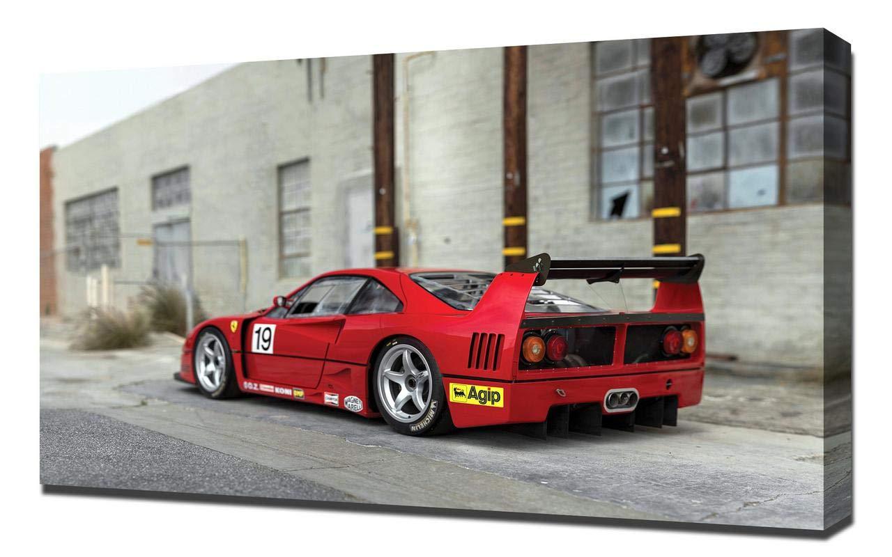 Amazon.com Lilarama USA 1989,Ferrari,F40,LM,V6 Canvas Art