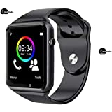 Britton Smart watch for men bluetooth smart watch wristwatch supports sim and memory card mp player camera easy connectivity sleep monitor whatsapp facebook internet for all android mobiles and apple ios iphone smartphones BR-SMT-001