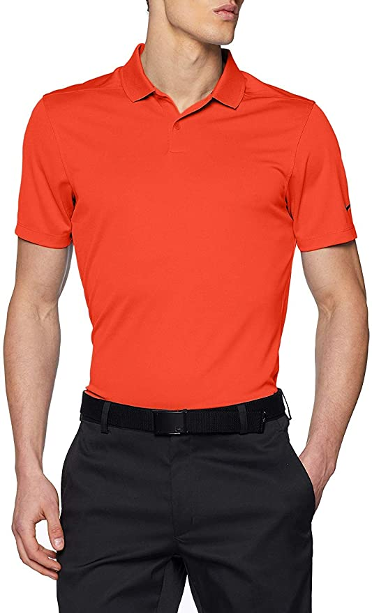 NIKE Dry Victory Solid Mens Golf Polo (Team Orange, X-Large ...