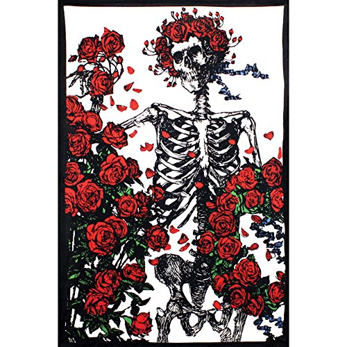 Grateful Dead Skeleton and Roses Tapestry - Roses Tapestry