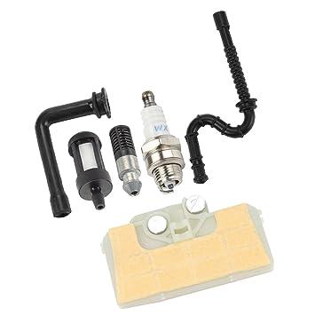 Benzinfilter Benzinschlauch Zündkerze Set für Kettensägen