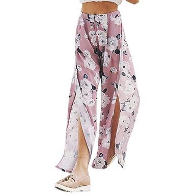 767f632d8e87b3 Hosen Damen REALIKE Frau Elegant Spitzen Einfarbig Weites Bein Hosen Hoch Taille  Schlaghosen Patchwork Freizeithosen Baggy