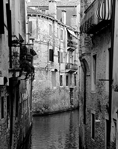 Laminated poster channel black white italy venice calm city water poster print 24 x 36