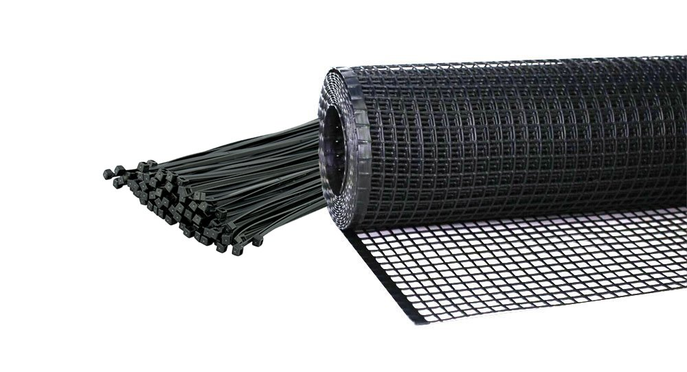Kidkusion Heavy Duty Deck Guard, Black - 30' L x 34'' H | Made in USA; Indoor/Outdoor Balcony and Stairway Deck Rail Safety Net; Child Safety; Pet Safety; Toy Safety