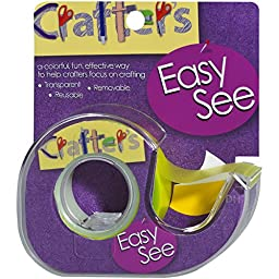 Lee Products Crafter\'s Easy See Removable Craft Tape, 0.5-Inch x 720-Inch, Yellow