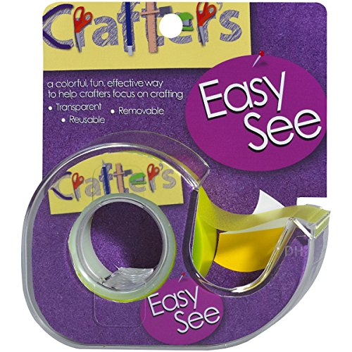 (Lee Products Crafter's Easy See Removable Craft Tape, 0.5-Inch x 720-Inch, Yellow)