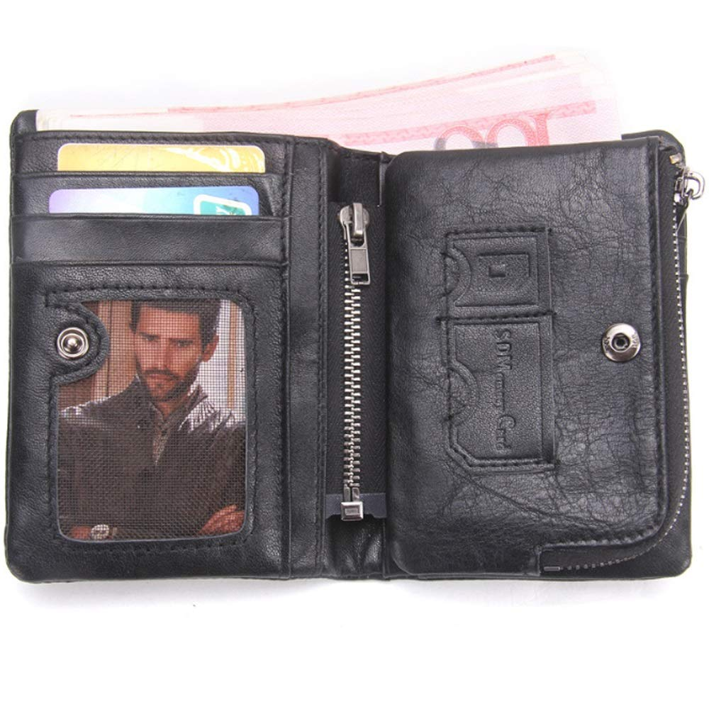 HHF Purses /& Wallets Studded Bag Mens Leather Wallet Removable Coin Purse Clutch Bag