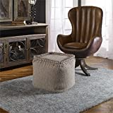 Anaya Dark Oatmeal Pouf Designed by Grace Feyock
