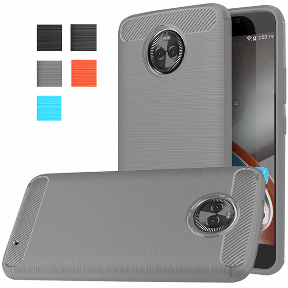 new style 1b3e9 301ee Moto X4 Case, Dretal [Shock Resistant] Flexible Soft TPU Brushed  Anti-fingerprint Full-body Protective Case Cover For Motorola Moto X4  (2017) (Gray)