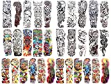 50 sheets wholesale extra large full arm 18'' temporary tattoo armband temporary tattoo