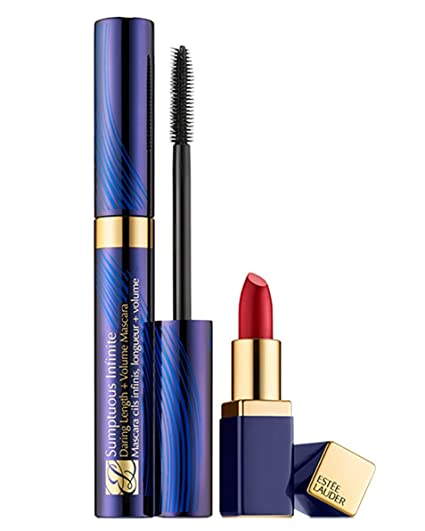 ESTEE LAUDER SUMPTUOUS INFINITE MASCARA CILS INFINIS + VOLUME ET PURE COLOR ENVY ROUGE SCULPTANT 04