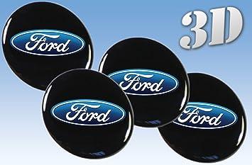 Rueda Ford Pegatinas para Rueda Ford todos los tamaño centro tapa tapacubos Logo Iinsignia 3Dd: Amazon.es: Coche y moto