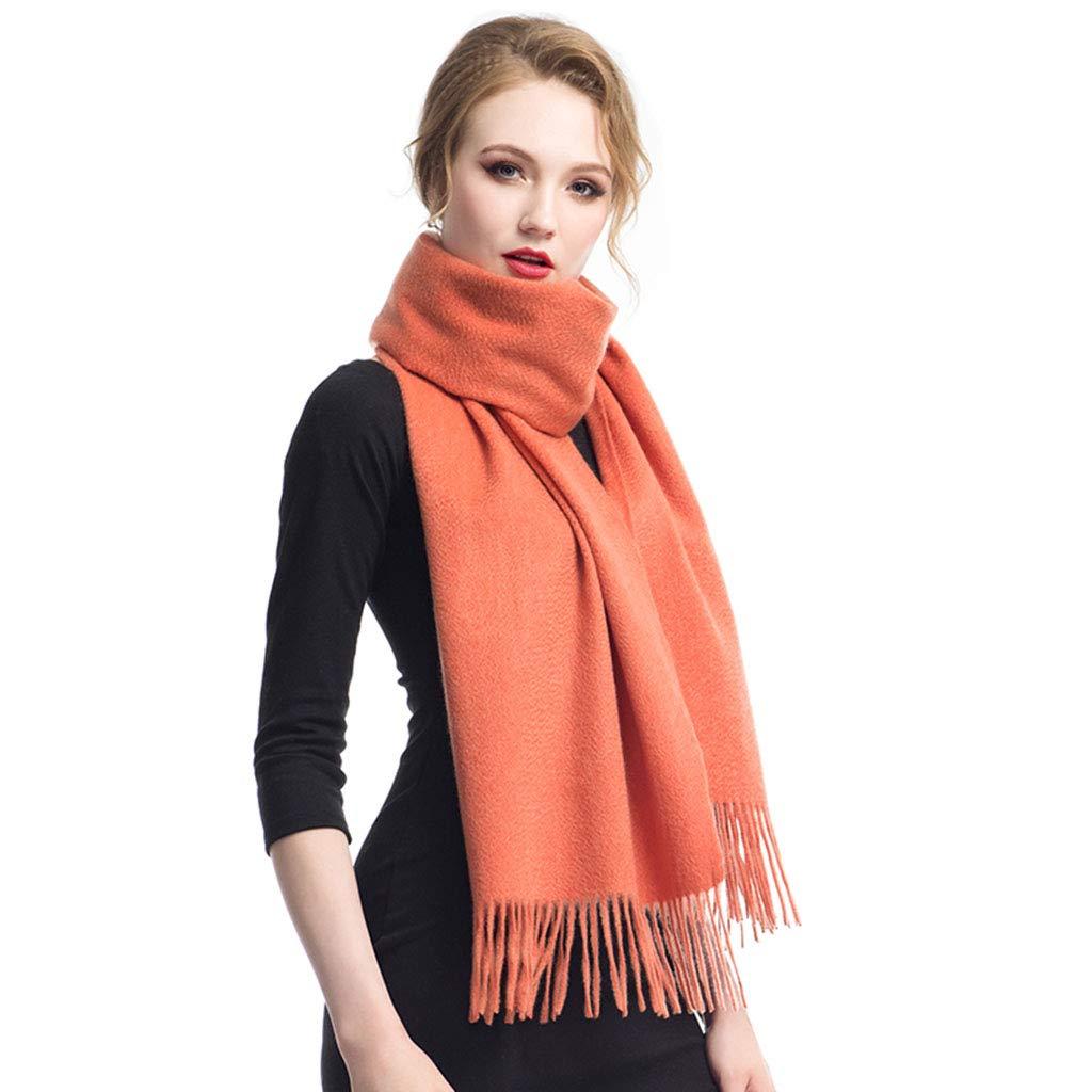 orange Stoles Scarf Cashmere Shawl Scarf Winter Comfortable Warm Scarf Ladies Dualuse Thick Pure Cashmere Tassel Shawl (color   orange, Size   200  40 cm)