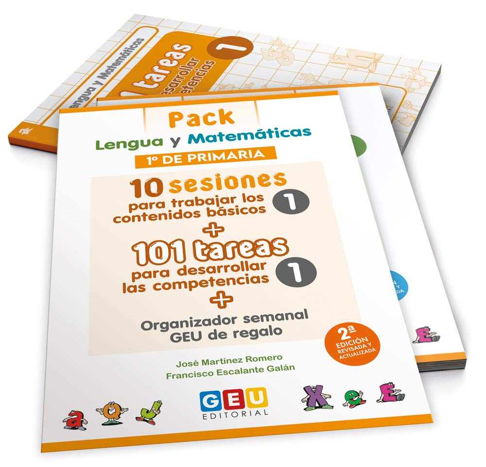 Pack Lengua y matemáticas 1º primaria: 10 Sesiones Contenidos básicos y 101 Tareas para Desarrollo Competencias Niños de 6 a 7 años: Amazon.es: josé Martínez Romero: Libros