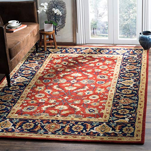 Safavieh Royalty Collection ROY256A Handmade Traditional Rust and Navy Wool Area Rug (8' x 10') - Collection Rug Area Royalty