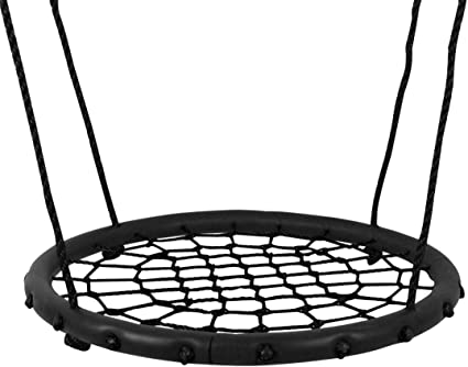 Hi Suyi 100cm//40 Disc Giant Nest Web Rope Hanging Tree Swing Seat Set Heavy Duty Easy to Set Up for Kids Children Adult Outdoor Backyard Garden Large Size