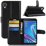 """Capa Capinha Carteira 360 Para Asus Zenfone Live L1 Za550kl Tela 5.5"""" Polegadas Case Couro Sintético Flip Wallet Para Cartão,"""