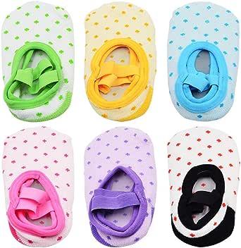 NonSlip Infant Toddler Ballet Style Baby Girl Socks for 9-32 Months, 6 Pairs