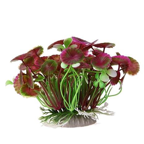 Broadroot Acuario Artificial, Planta de césped Floral, Acuario, Paisaje, decoración Verde.