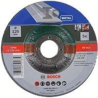 Bosch 5 doorslijpschijven (voor metaal, passend bij snoerloose haakse slijpmachines met een diameter van de…