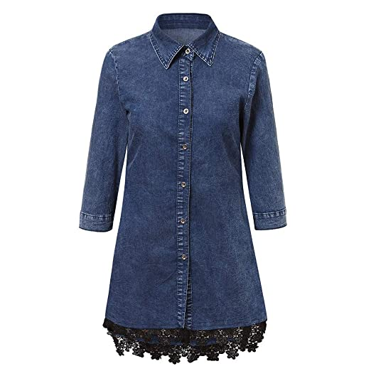 63e04973e1 Amazon.com  Womens Button Down Denim Sexy Dress