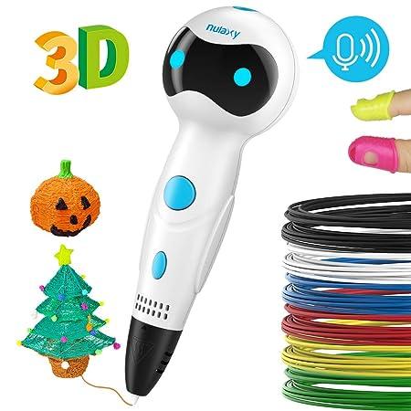 Nulaxy Pluma Impresión 3D, 3D Pen Niños Adultos (Blanco) (2 ...