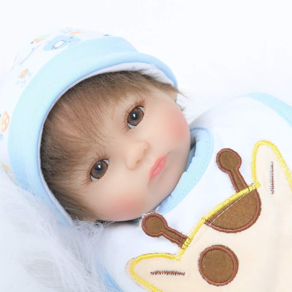 Reborn Reborn Reborn Baby Doll Weihnachten Handgemachte Baby Puppen Weiche Silikon Vinyl Wiedergeborene Baby Puppen, TIREOW die Reales Neugeborenes Baby Spielzeug 17inch Geschenk 0427f9