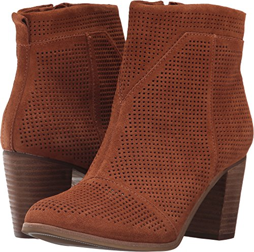 TOMS Women's Lunata Bootie Cinnamon Suede Perforated Boot