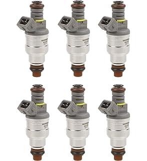 6pcs Fuel Injectors Compatible With 1993-1998 Ford F-150 F-250 F-350 E-150 E-250 E-350 Mustang Mercury Cougar 6 Cyl 3.8L 4.9L Replaces F1ZZ9F593B F1ZEB4C