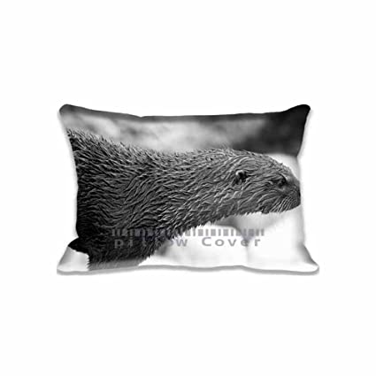 Groovy Amazon Com A Very Wet River Otter Rectangle Pillow Case Machost Co Dining Chair Design Ideas Machostcouk