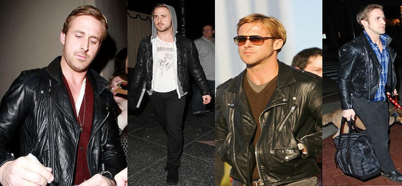 Ryan Gasoling Black Sheep Skin Slim Fit Leather Jacket