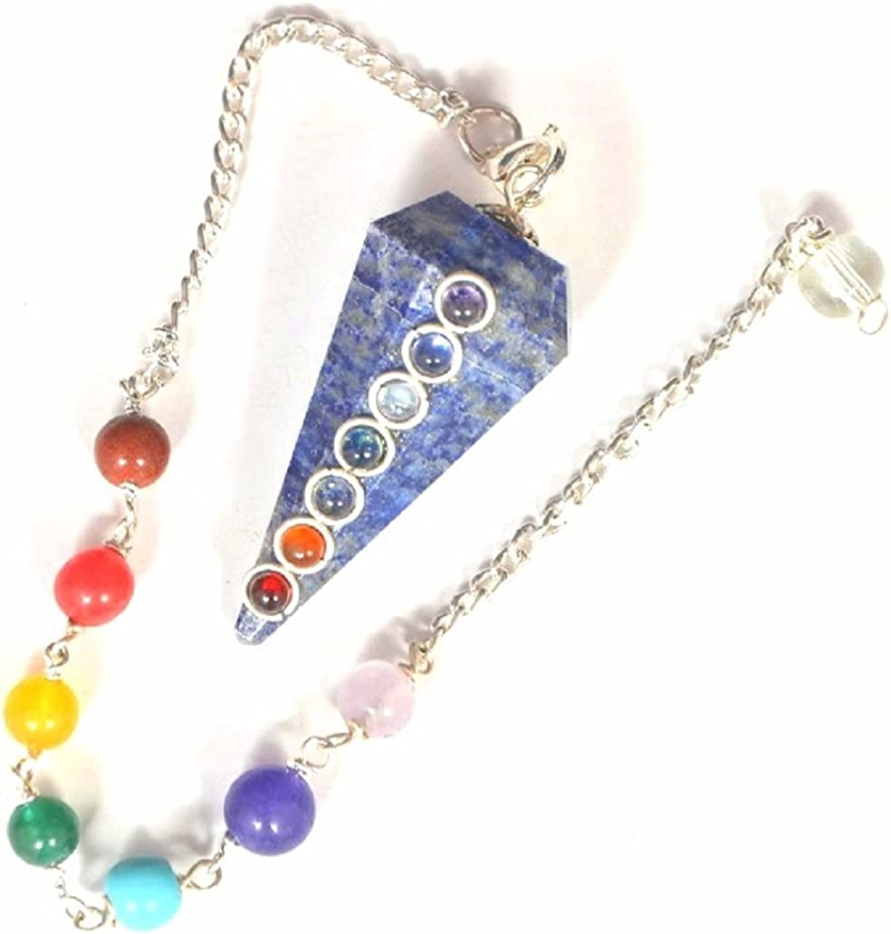 3-10pcs Bulk Stick Point Pendants Jewelry,Natural Lapis Lazuli Faceted Hexagon Loose Beads,Plated Silver Bail Copper Cut Double for Necklace