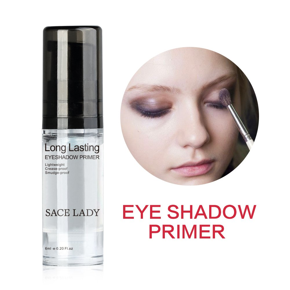 Waterproof Eyeshadow Primer, Long Lasting Smooth Eye Primer Base Makeup, Crease-freeand Cruelty Free SACE LADY